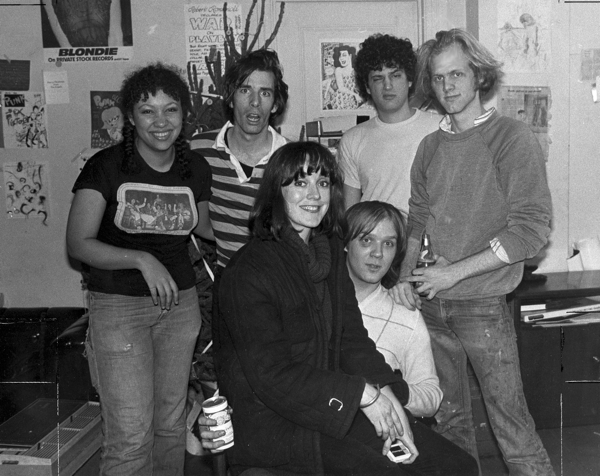 Punk magazine Christmas party 1977 (photo by Roberta Bailey)