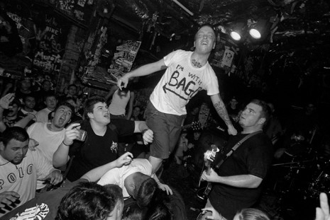 Artie Phillie (Indecision) at CBGB's, NYC, December 30, 1999. (Photo by Carl Gunhouse)