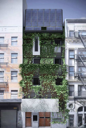 Proposed planted facade. Paul Castrucci, Architect