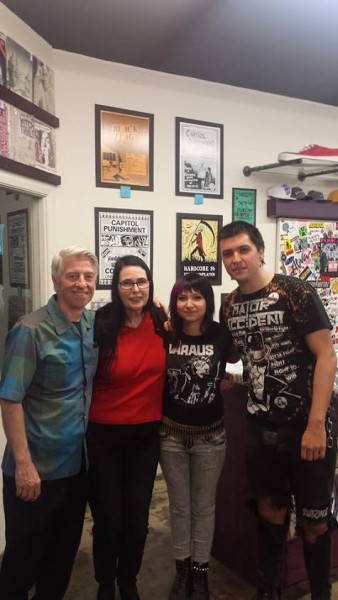 (photo: Dale and Jocey of Capitol Punishment & Erika and Gurpaul of Screaming Vomit booking)