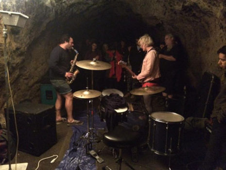 The Blues in a cave.