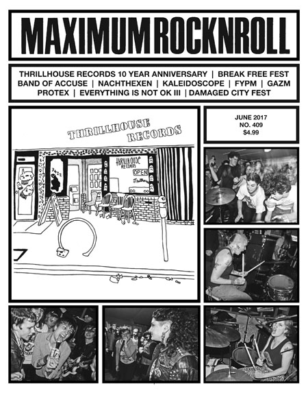 MAXIMUM ROCKNROLL #409 (KALEIDOSCOPE)